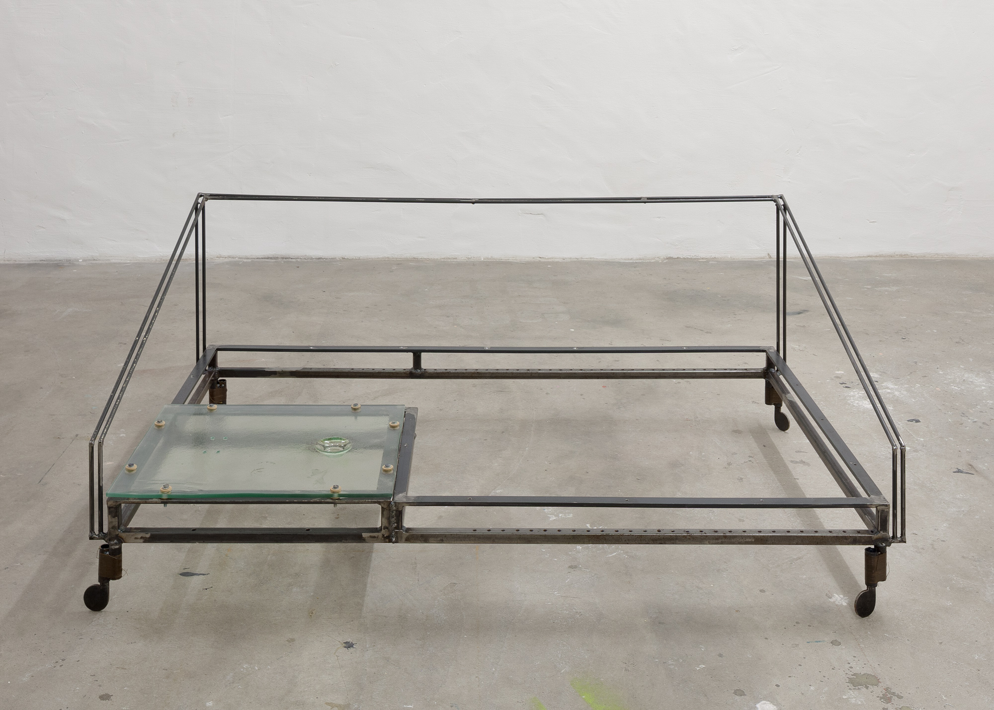 table (glass) │ metal, glass │ 2016-19 │ 40cm x 145cm x 107cm