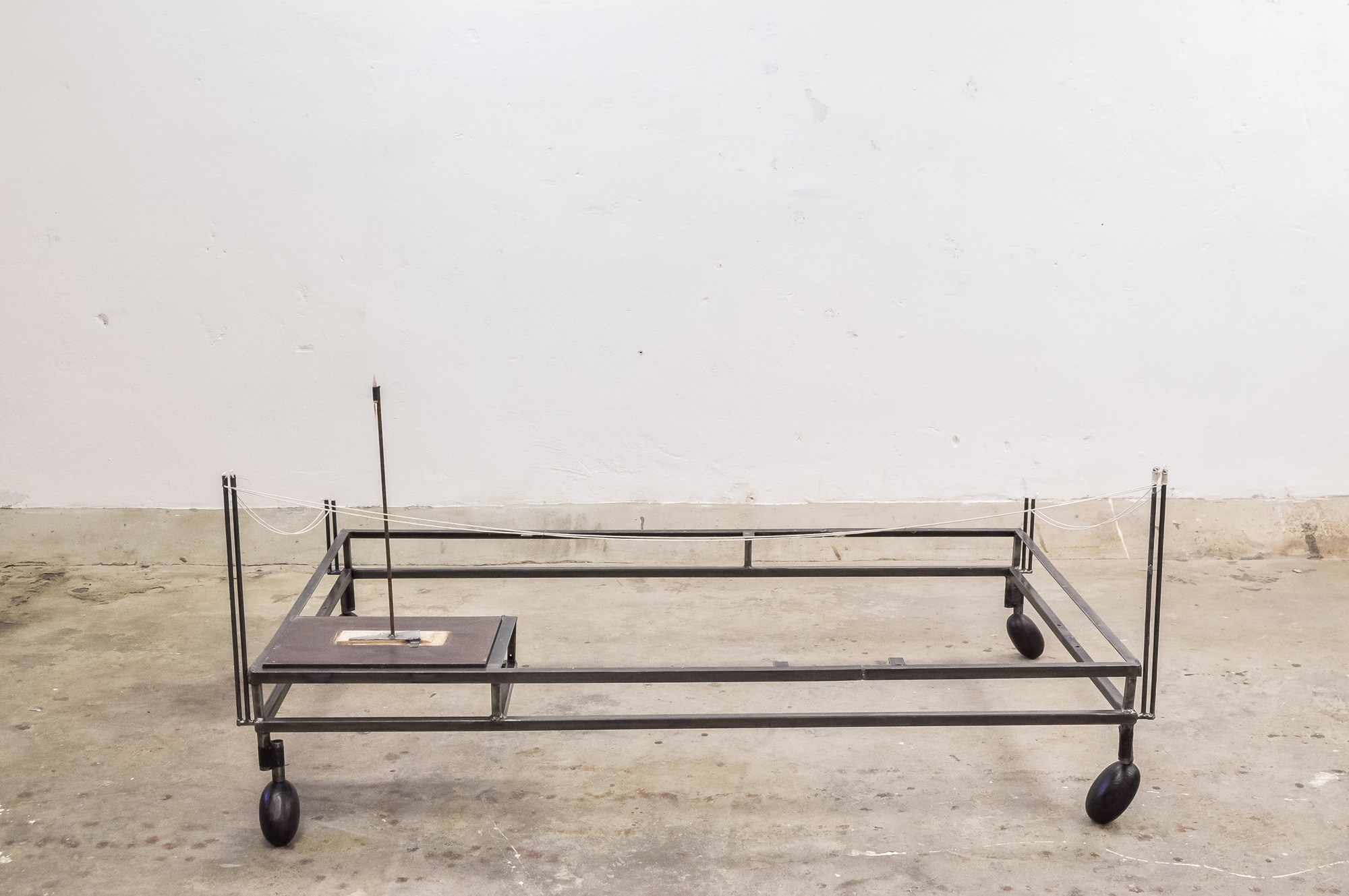 table (rocket)  │ metal, wood, fabric │ 2019 │ 65cm x 158cm x 93cm