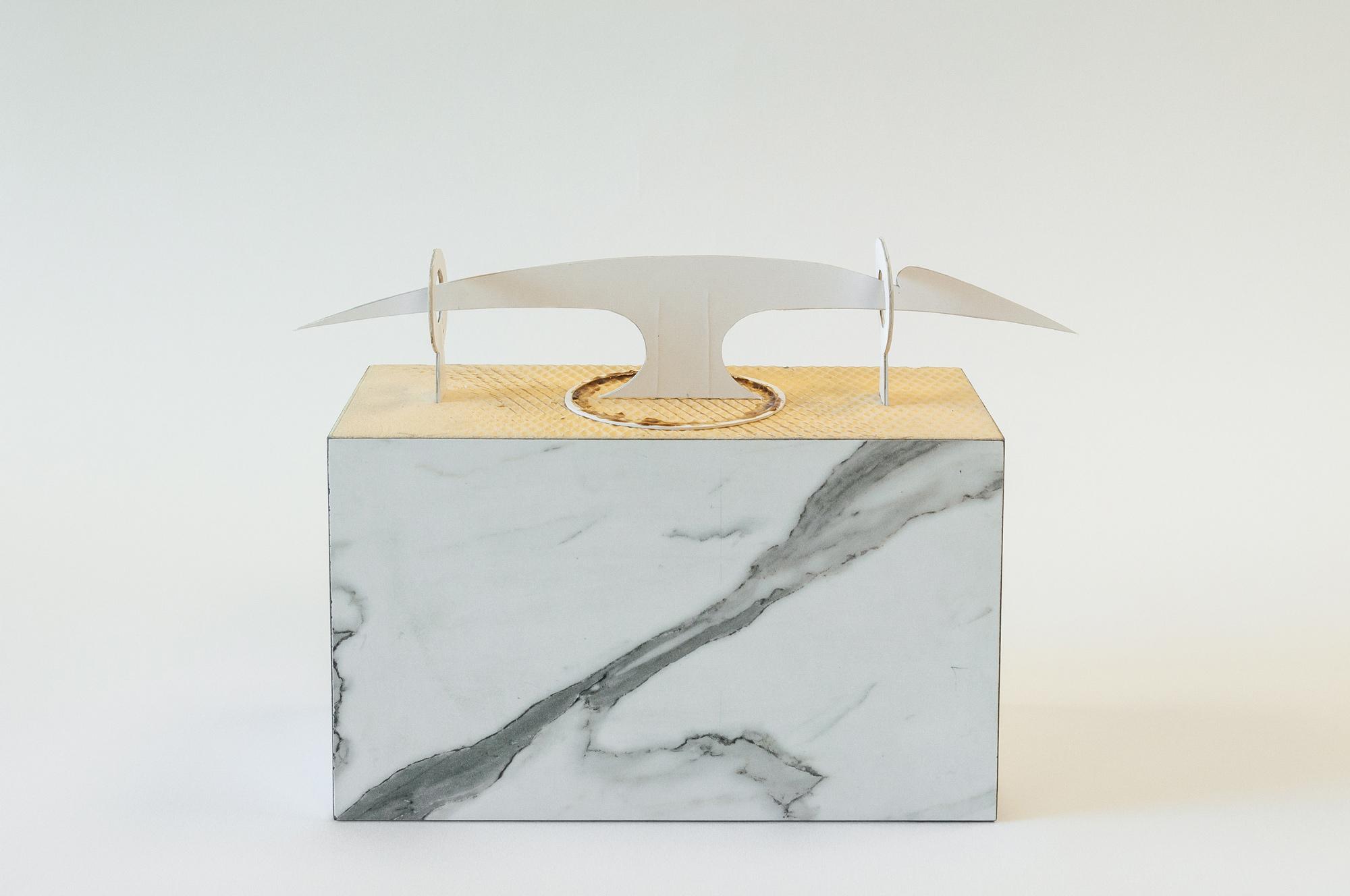 лук │ wood, plastic, cardboard │ 2020 │ 21cm x 32cm x 11cm