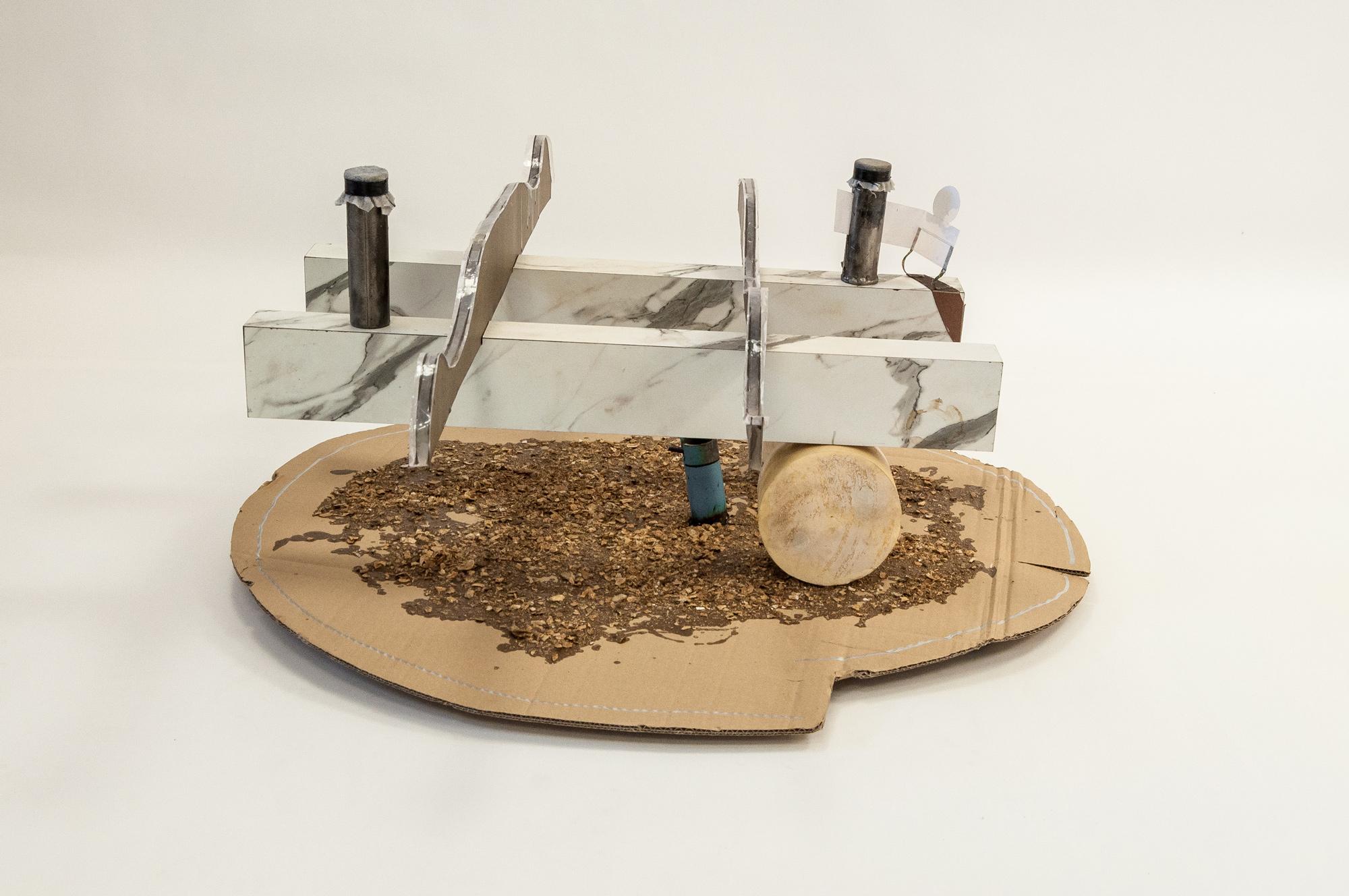 3 │ metal, wood, plastic, cardboard, paper, fabric │ 2020 │ 37cm x 80cm x 80cm