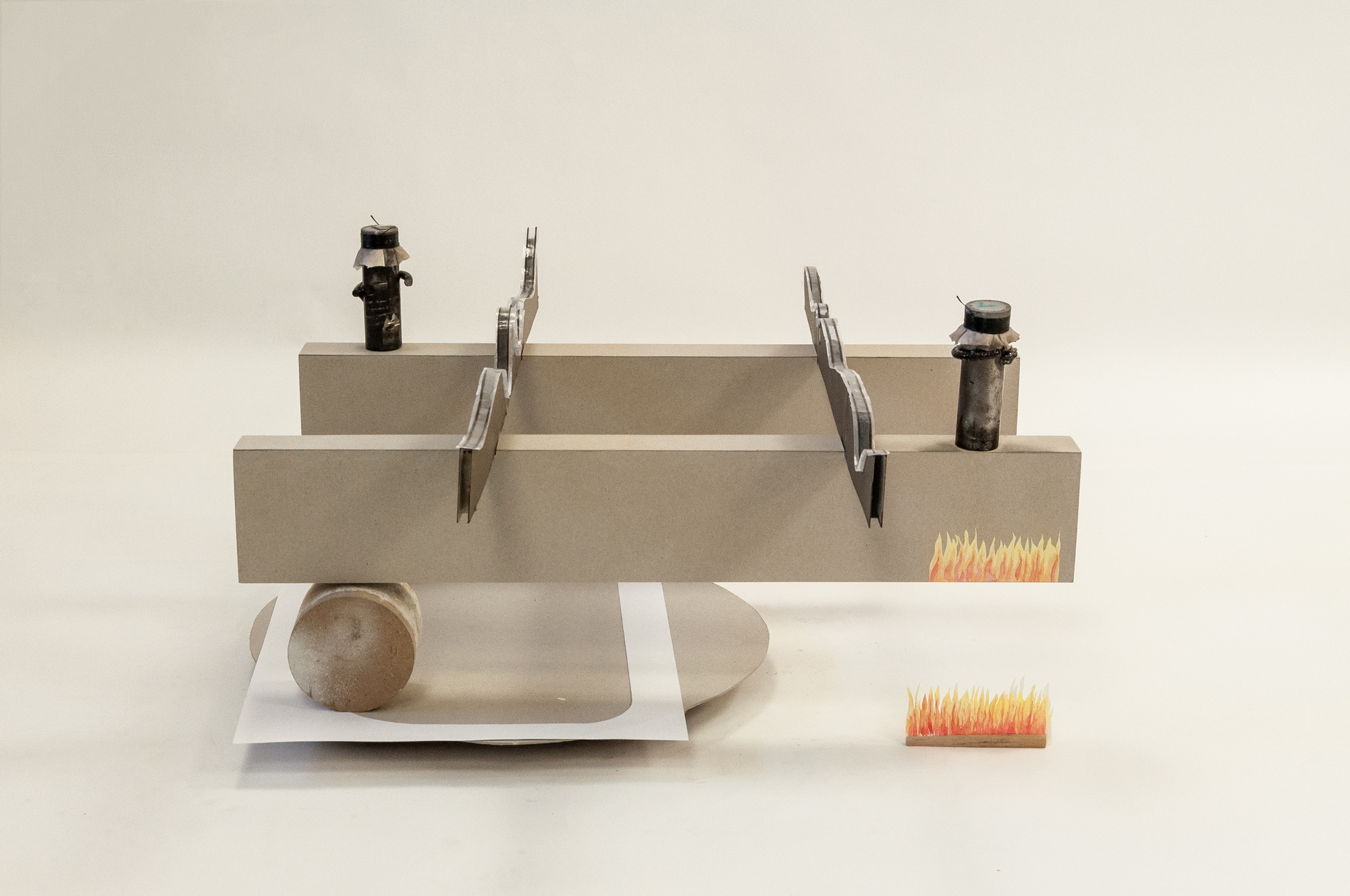 Untitled (pipes) │ metal, wood, plastic, cardboard, paper, fabric │ 2020 │ 38cm x 70cm x 70cm